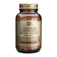 L-Arginina/L-Ornitina 500/250 mg 50 Caps - Solgar