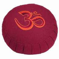 Cojin Zafu Burdeos + BORDADO 'Om' Basic - Bodhi
