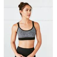 Top CROSS STRAP Black Grey S - Manduka