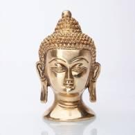 Estatua Cabeza de Buda Dorada