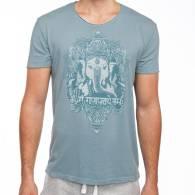 T-Shirt Talla L Vintage Azul GANESHA - Bodhi
