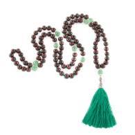 Mala Meditación Palo de Rosa + Onix Verde