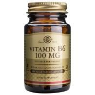 Vitamina B6 Piridoxina 100 mg 100 Cap - Solgar