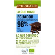 Chocolate Negro 98% Ecuador 100 Gr - Ethiquable