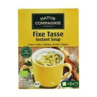 Sopa de Pollo Instantanea 2 Uni 34 gr - Natur Compagnie