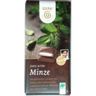 Chocolate Negro con Menta 100 gr - Gepa