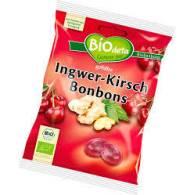 Caramelos Bio Rellenos de Jengibre 75 gr - Biodeta