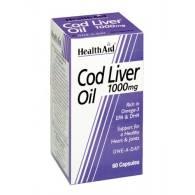 Aceite Hígado de Bacalao 1000mg 60Cap - Heath Aid