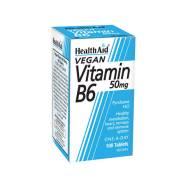 Vitamina B6 (Piridoxina clorhidrato) 50mg 100Comp - Health Aid