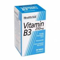 Vitamina B3 (Niacinamida) 250 mg 90 Comp - Health Aid