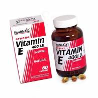 Vitamina E Natural 400 UI 60Cap - Health Aid