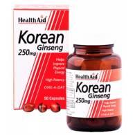 Ginseng Coreano (Panax Ginseng) 250mg 50Cap - Health Aid