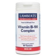 Complejo Vitamina B-100 60 Comp - Lamberts