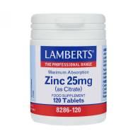 Citrato de Zinc 25 mg 120 Comp - Lamberts