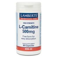 L - Carnitina 500 mg 60 Cápuslas - Lamberts