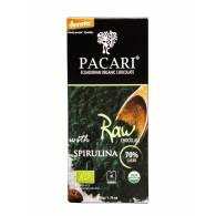 Chocolate + Espirulina y Azucar de Coco + Cacao 70% 50 Gr - Pacari